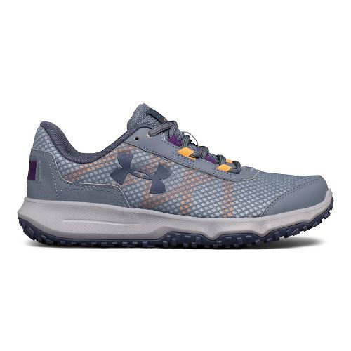 Womens Under Armour Toccoa Trail Running Shoe - Black/Grey 8.5