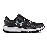 Womens Under Armour Toccoa Trail Running Shoe - Gravel/Orange 9.5