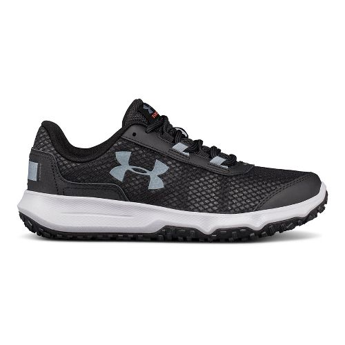 Womens Under Armour Toccoa Trail Running Shoe - Gravel/Orange 9