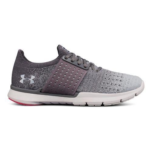 Womens Under Armour Speedform Slingwrap Fade Running Shoe - Graphite/Grey 8