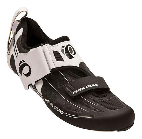 Mens Pearl Izumi Tri Fly Elite V6 Cycling Shoe - White/Black 12.5