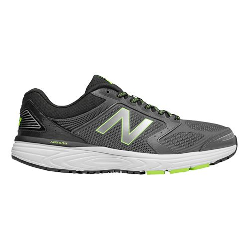 Mens New Balance 560v7 Running Shoe - Gunmetal/Hi-Lite 12