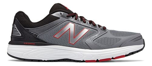 Mens New Balance 560v7 Running Shoe - Silver/Black 13