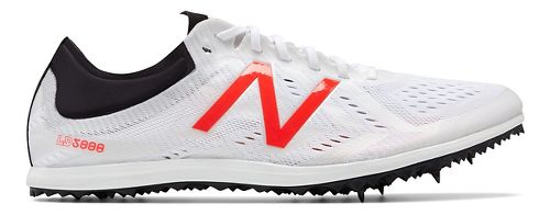 Mens New Balance LD5Kv5 Track and Field Shoe - White/Flame 8.5