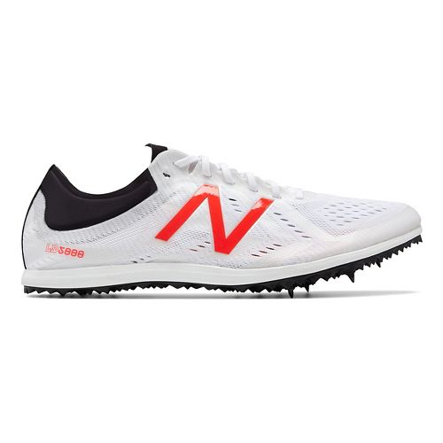 Mens New Balance LD5Kv5 Track and Field Shoe - White/Flame 12