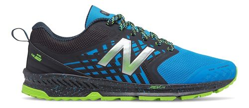 Mens New Balance Nitrel Trail Running Shoe - Black/Bolt 12