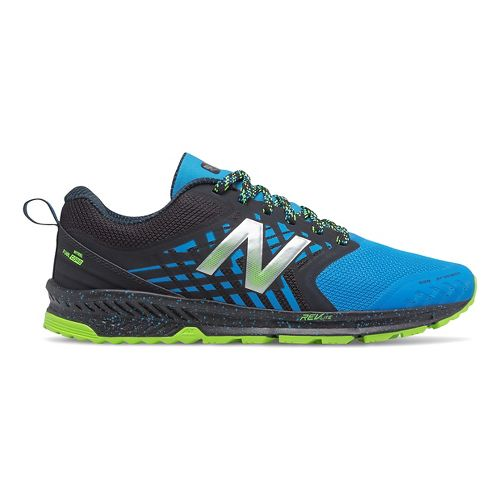 Mens New Balance Nitrel Trail Running Shoe - Black/Bolt 11
