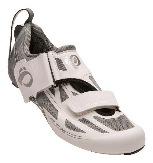 Womens Pearl Izumi Tri Fly Elite V6 Cycling Shoe - White/Silver 9