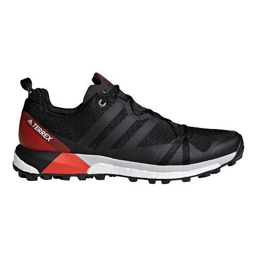 Mens adidas Terrex Agravic Trail Running Shoe - Black/Red 10.5