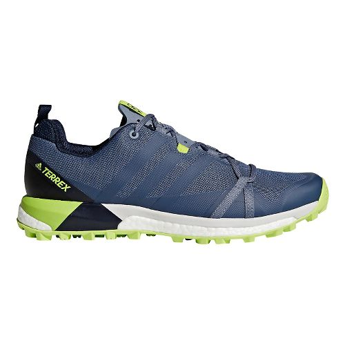 Mens adidas Terrex Agravic Trail Running Shoe - Steel/Navy 15