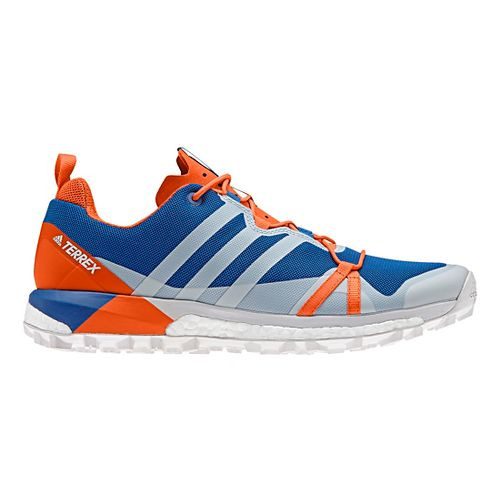 Mens adidas Terrex Agravic Trail Running Shoe - Blue/Grey/Orange 9.5