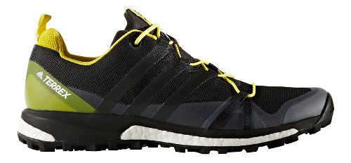 Mens adidas Terrex Agravic Trail Running Shoe - Black/Yellow 11