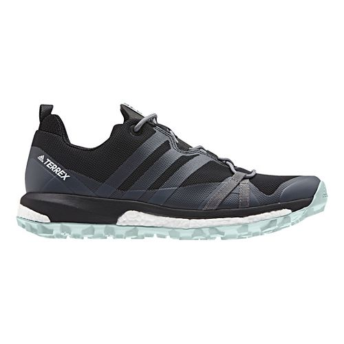 Womens adidas Terrex Agravic Trail Running Shoe - Black/Grey 10