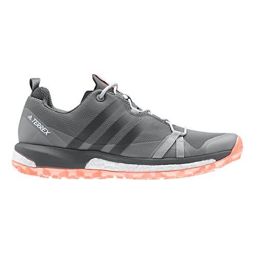 Womens adidas Terrex Agravic Trail Running Shoe - Grey/Coral 10.5