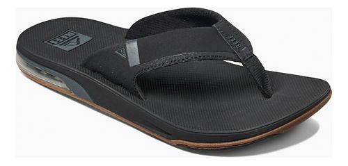 Mens Reef Fanning Low Sandals Shoe - Black 11
