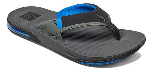 Mens Reef Fanning Low Sandals Shoe - Grey/Blue 14