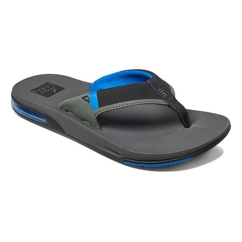 Mens Reef Fanning Low Sandals Shoe - Grey/Blue 9