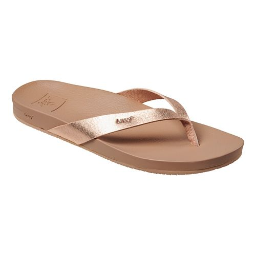 Womens Reef Cushion Bounce Court Sandals Shoe - Rose Gold 9