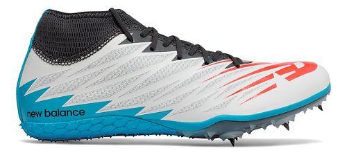 Mens New Balance SD100v2 Track and Field Shoe - White/Black 7.5