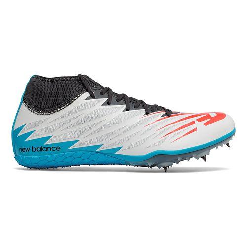 Mens New Balance SD100v2 Track and Field Shoe - White/Black 8.5