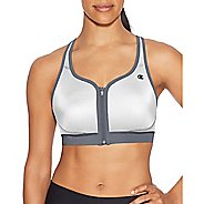 Womens Champion The Absolute Zip Sports Bras - White M