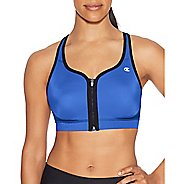 Womens Champion The Absolute Zip Sports Bras - Blue/Black XS