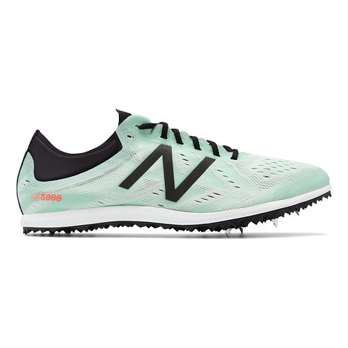 Womens New Balance LD5Kv5 Track and Field Shoe - North Sea/Flame 6.5