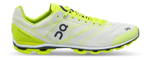 Womens On Cloudflash Racing Shoe - Neon/White 10.5