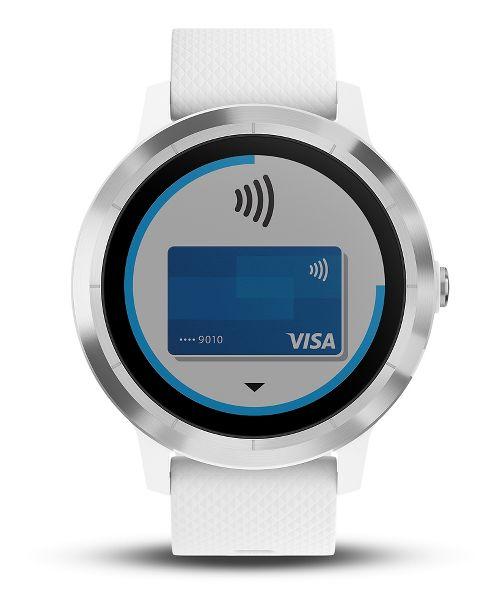 Garmin vivoactive 3 GPS Smartwatch Monitors - White/Stainless