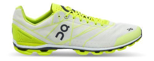 Mens On Cloudflash Racing Shoe - Neon/White 7.5