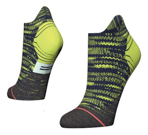 Womens Stance Distance Run Tab Socks - Green M