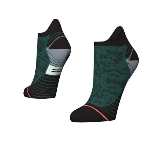 Womens Stance Interval Run Tab Socks - Green M