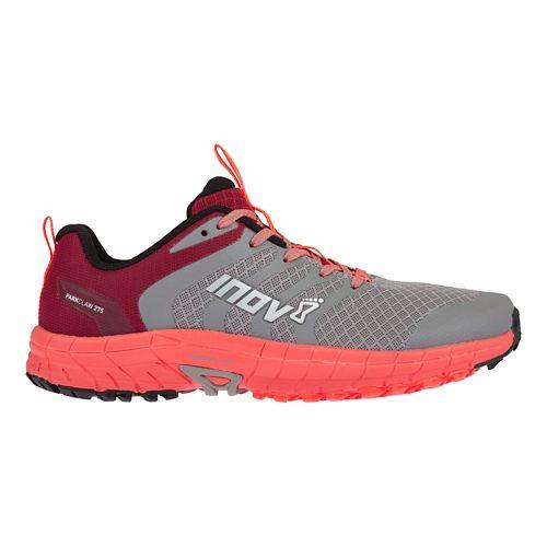 Womens Inov-8 Parkclaw 275 Trail Running Shoe - Grey/Coral 7.5