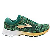 Mens Brooks St Pattys Day Launch 5 Running Shoe - Green/Gold 9