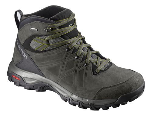 Mens Salomon Evasion 2 Mid LTR GTX Hiking Shoe - Grey Beluga Guac 11