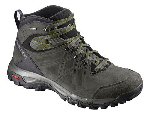 Mens Salomon Evasion 2 Mid LTR GTX Hiking Shoe - Grey Beluga Guac 8
