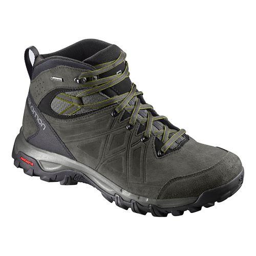 Mens Salomon Evasion 2 Mid LTR GTX Hiking Shoe - Grey Beluga Guac 7.5
