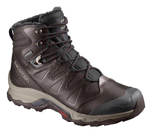Mens Salomon Quest Winter GTX Hiking Shoe - Black Red 8.5