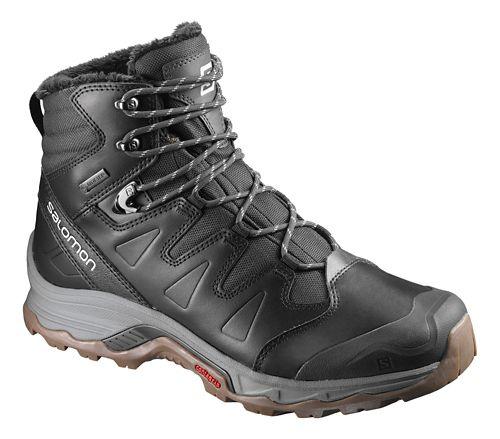 Mens Salomon Quest Winter GTX Hiking Shoe - Grey Black 11