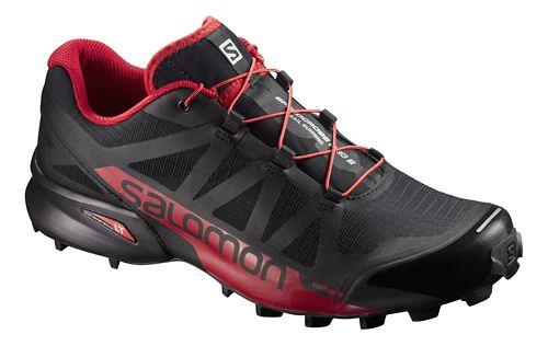 Mens Salomon Speedcross Pro 2 Trail Running Shoe - Black/Red 7.5