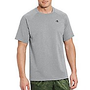 Mens Champion Vapor Select Tee Short Sleeve Technical Tops - Oxford Grey L