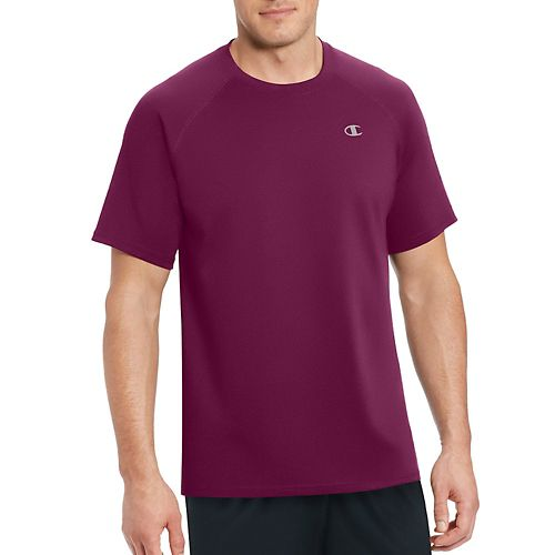 Mens Champion Vapor Select Tee Short Sleeve Technical Tops - Bordeaux Red M
