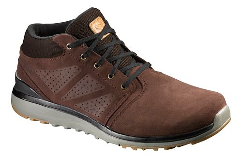 Mens Salomon Utility Chukka TS WR Hiking Shoe - Brown 12