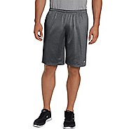 Mens Champion Long Mesh with Pockets Unlined Shorts - Granite Heather XXL