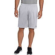 Mens Champion Long Mesh with Pockets Unlined Shorts - Athletic Grey S