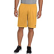 Mens Champion Long Mesh with Pockets Unlined Shorts - Team Gold S