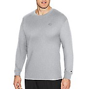 Mens Champion Classic Jersey Tee Long Sleeve Technical Tops - Oxford Grey XL