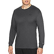 Mens Champion Classic Jersey Tee Long Sleeve Technical Tops - Granite Heather M