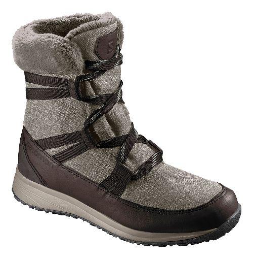 Womens Salomon Heika CS WP Hiking Shoe - Black/Cinder 7.5