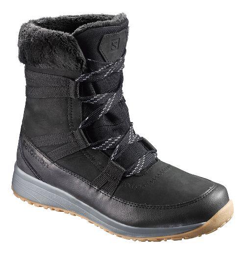 Womens Salomon Heika LTR CS WP Hiking Shoe - Phantom/Black/Alloy 9.5